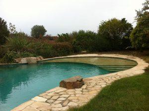 Construccion de piscina finalizada